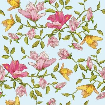 Fond transparent floral vintage