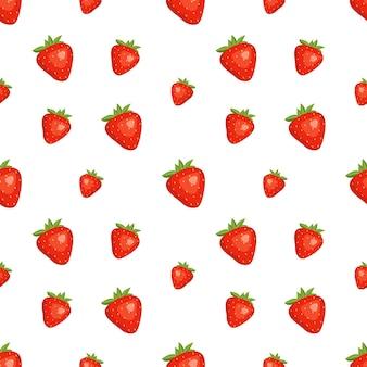 Fond transparent avec des fraises rouges été mignon