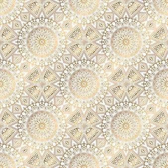 Fond transparent mandala motif doré