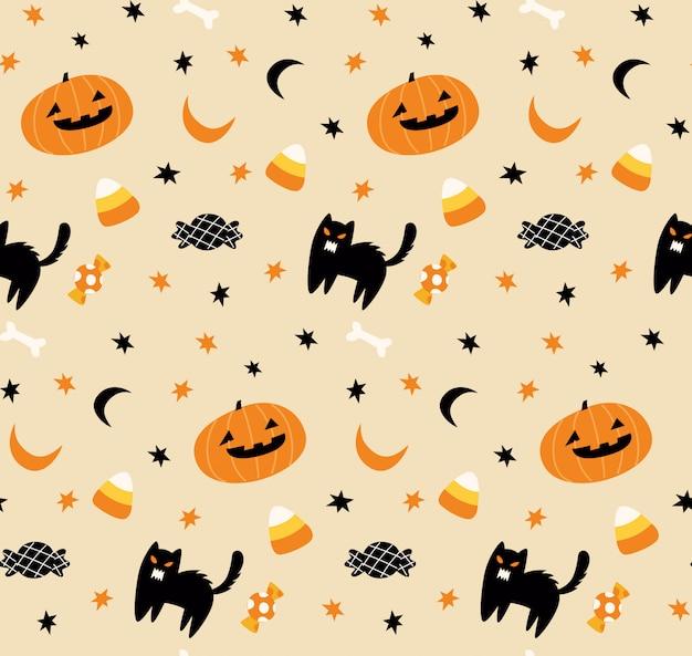 Fond transparent mignon halloween