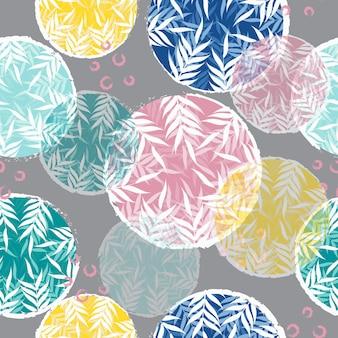 Fond transparent motif floral abstrait