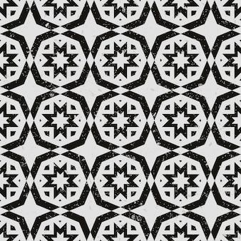 Fond transparent, motif de géométrie vintage polygone blanc noir.