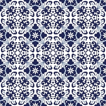 Fond transparent, motif kaléidoscope feuille spirale bleu vintage.