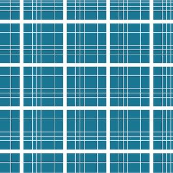 Fond transparent de motif tartan à carreaux de couleur bleue avec des lignes géométriques blanches