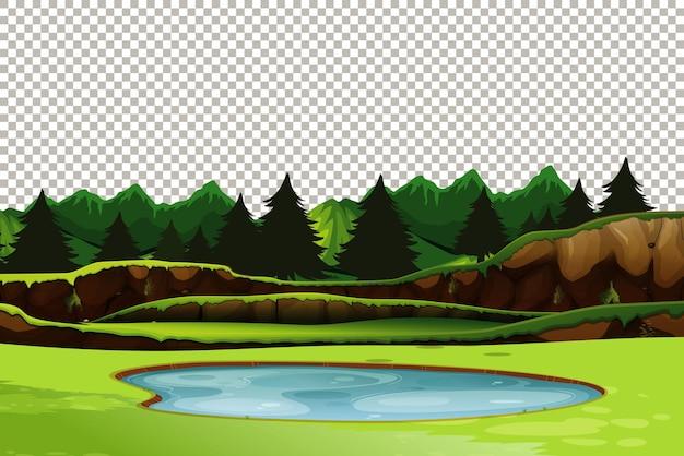 Fond transparent nature paysage extérieur