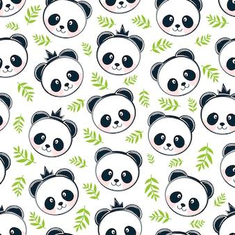 Fond transparent panda