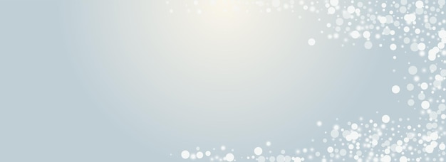 Fond transparent panoramique de vecteur de flocon gris. carte de chute de neige lueur blanche. carte postale élégante de tempête de neige. fond d'écran étoiles scintillantes.