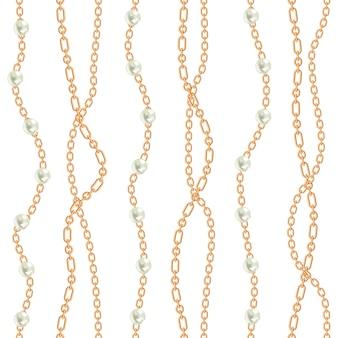 Fond transparent avec des poires et des chaînes