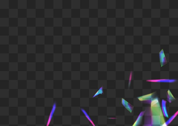 Fond transparent de vecteur de réfraction lumineux. holo flou motif isolé. affiche glamour flare irisée. branche d'étincelle de superposition de couleur.