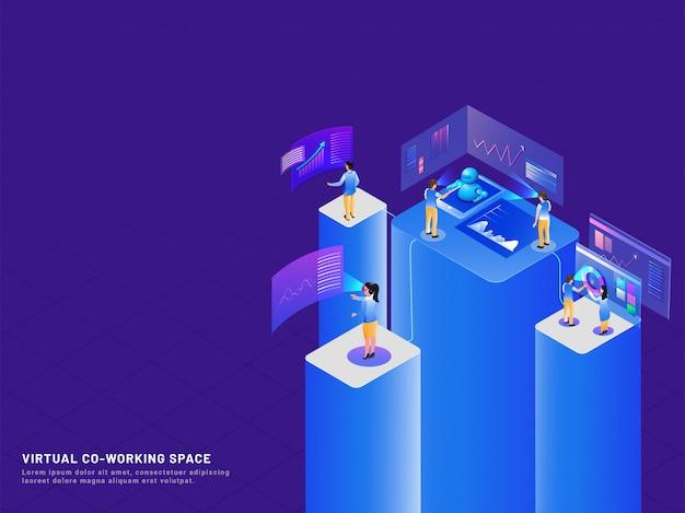 Fond de travail virtuel