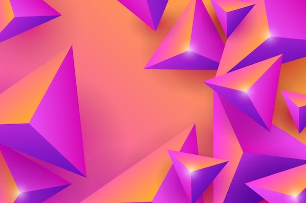 Fond de triangle 3d vibrant