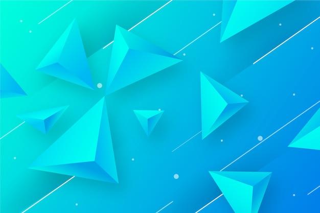 Fond de triangle 3d