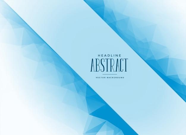 Fond de triangle abstrait bleu avec espace de texte
