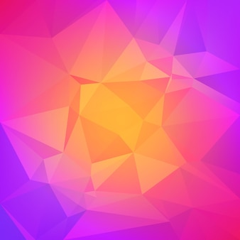 Fond de triangle carré abstrait dégradé. toile de fond polygonale multicolore arc-en-ciel vibrant pour la présentation d'entreprise. transition de couleur dégradée lumineuse positive pour l'application et le web.