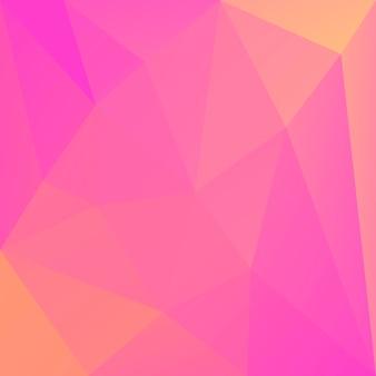 Fond de triangle carré abstrait dégradé. toile de fond polygonale rose et jaune chaude pour application mobile et web. bannière abstraite géométrique à la mode. conception de flyers corporatifs. style mosaïque.