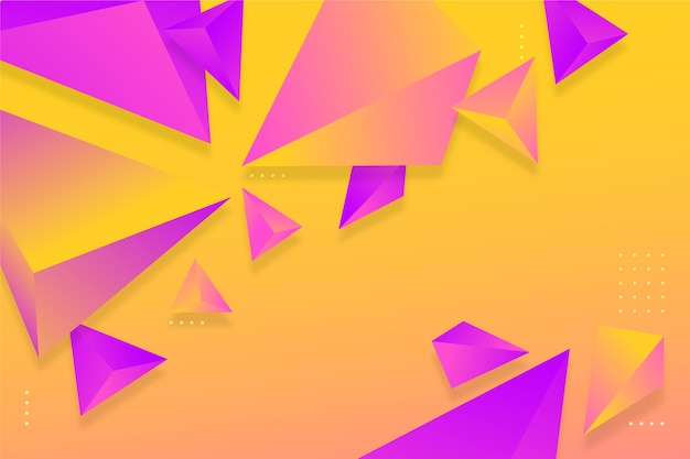Fond de triangle dégradé violet et orange avec des couleurs vives