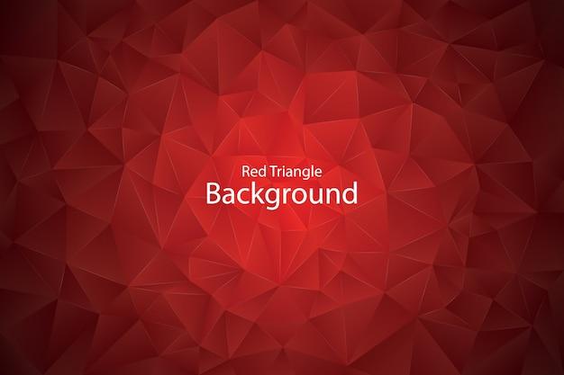 Fond de triangle géométrique rouge
