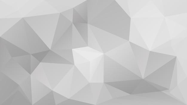 Fond de triangle horizontal abstrait dégradé. toile de fond polygonale de couleur grise pour la présentation de l'entreprise. bannière abstraite géométrique à la mode. dépliant de concept technologique. style mosaïque.