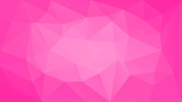 Fond de triangle horizontal abstrait dégradé. toile de fond polygonale rose tendre pour application mobile et web. bannière abstraite géométrique à la mode. dépliant de concept technologique. style mosaïque.