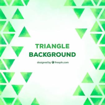 Fond de triangle vert