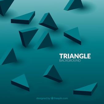 Fond avec des triangles 3d