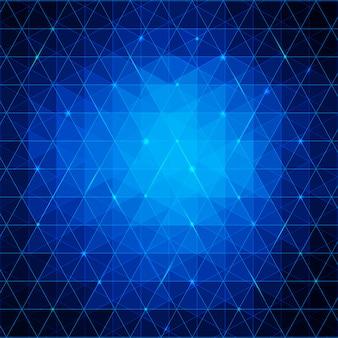Fond de triangles abstraits bleus pour votre entreprise