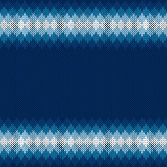 Fond tricoté de vacances d'hiver avec une place pour le texte