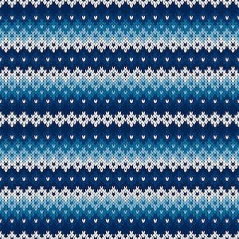 Fond tricoté de vacances d'hiver