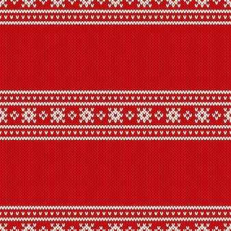 Fond tricoté de vacances de noël avec une place pour le texte. imitation de texture de pull en tricot de laine.