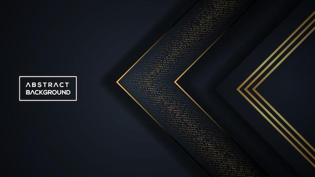 Fond tridimensionnel noir et doré