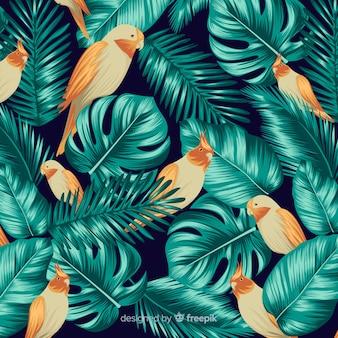 Fond tropical avec des animaux