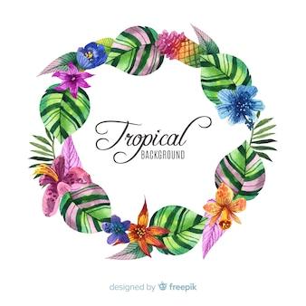 Fond tropical aquarelle coloré