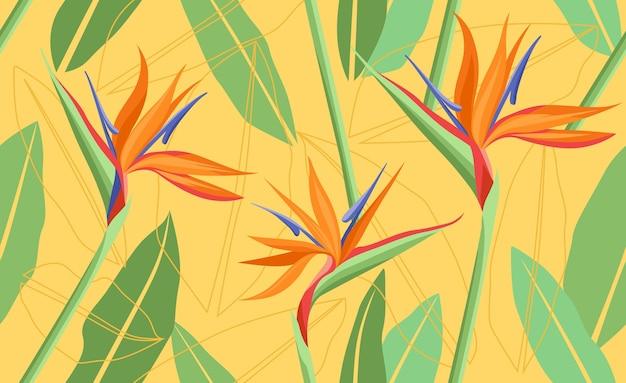 Fond tropical clair avec des plantes de la jungle