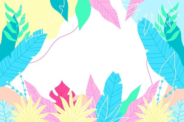 Fond tropical coloré avec un espace vide
