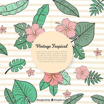 Fond tropical dans un style vintage