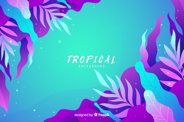 Fond tropical dégradé