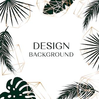 Un fond tropical avec un espace libre pour le texte sont logo.