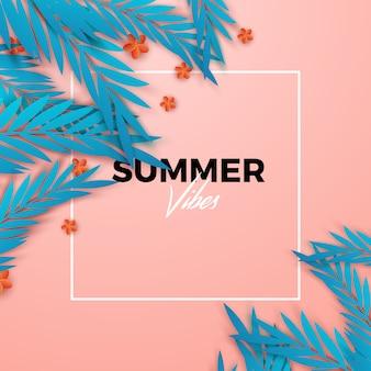 Fond tropical de l'été