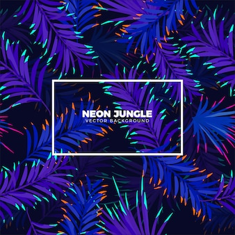 Fond tropical de la jungle néon