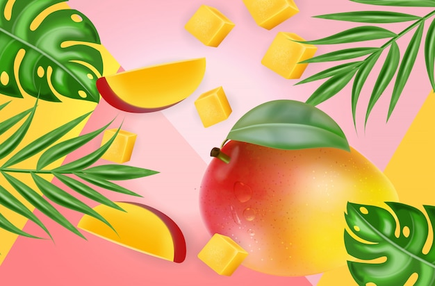Fond tropique de mangue