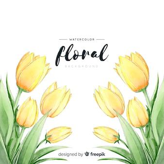 Fond de tulipes de printemps