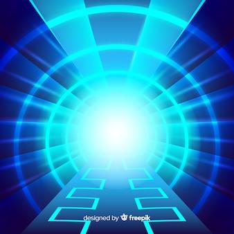 Fond de tunnel de lumière technologique abstraite
