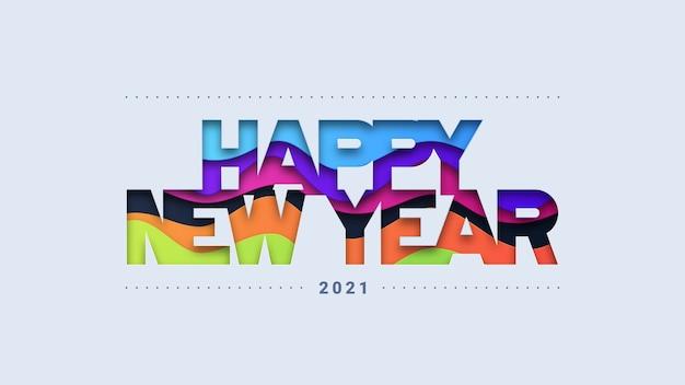 Fond de typographie de bonne année