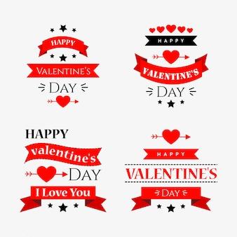 Fond typographique de la saint-valentin