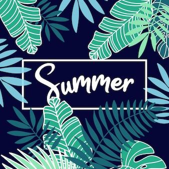 Fond de vacances d'été tropical