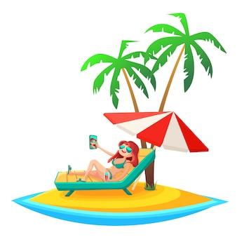 Fond de vacances d'été.