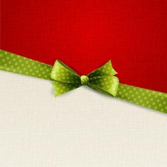 Fond de vacances avec noeud à pois verts