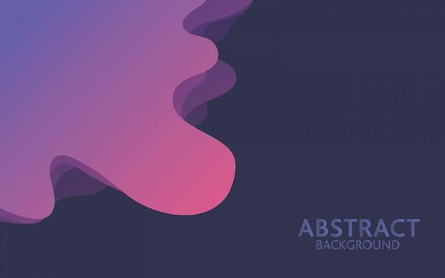 Fond de vague abstrait violet. composition de forme fluide à gradient