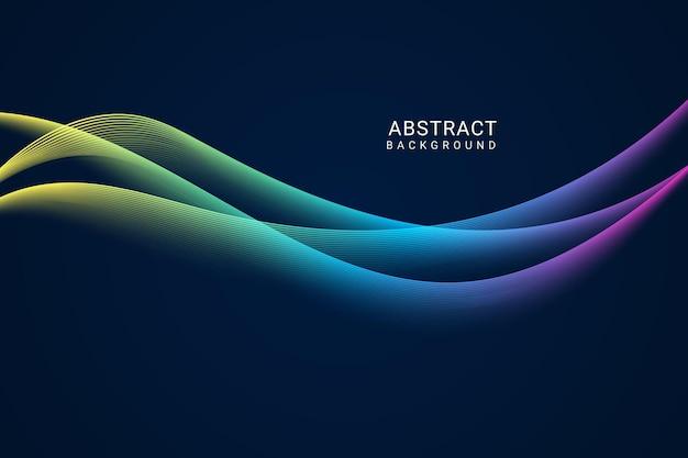 Fond de vague abstraite dégradé moderne