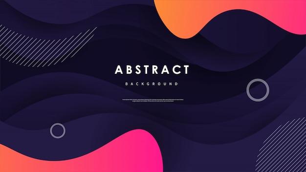 Fond de vague abstraite avec des formes colorées